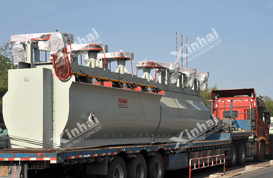 Flotation machine transportation