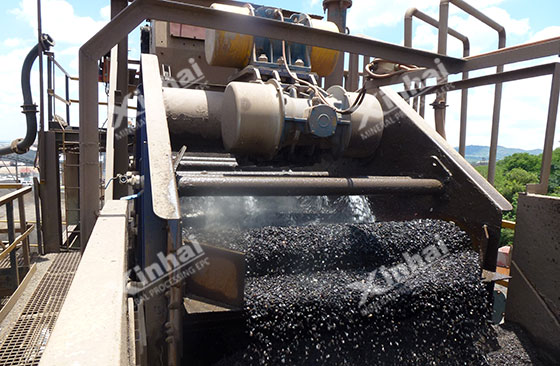 working vibrating screen